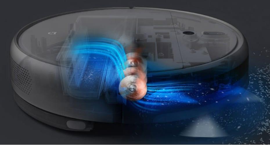 Мощный мотор Mi Robot Vacuum Mop
