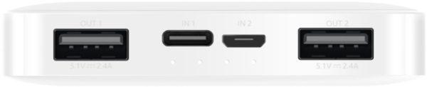 Внешний аккумулятор Xiaomi 10000mAh Redmi Power Bank белый