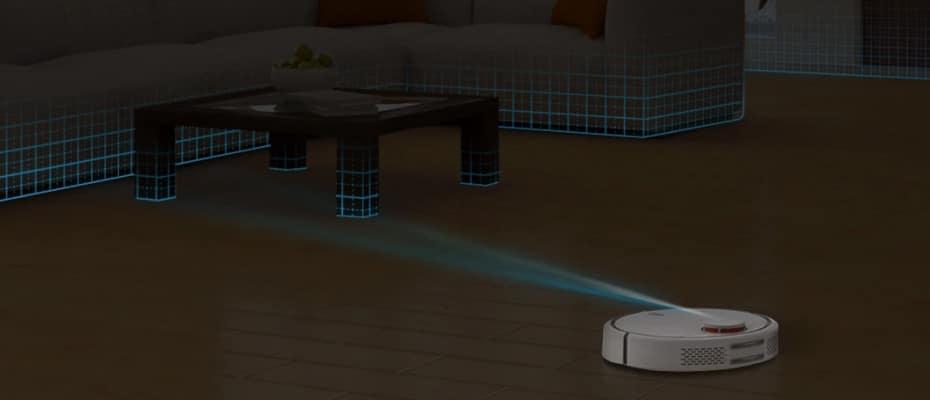 Mi Robot Vacuum строит виртуальную карту помещения