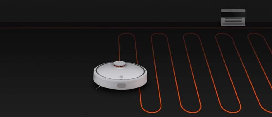 Работа пылесоса Mi Robot Vacuum